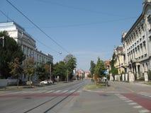 Straße in osijek Stadt Stockbilder