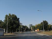 Straße in osijek Stadt Stockfotos