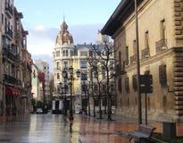 Straße in Oviedo Stockfotografie