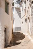 Straße in Pampaneira, Andalusien, Spanien Stockfotografie