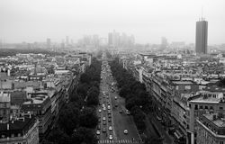 Straße in Paris Lizenzfreies Stockfoto