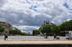 Straße in Paris Stockbild