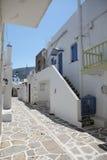 Straße in Paros Lizenzfreie Stockfotos