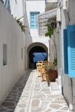 Straße in Paros Lizenzfreie Stockfotografie