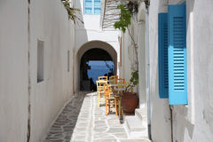 Straße in Paros Lizenzfreies Stockfoto
