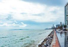 Straße in Pattaya in Thailand Lizenzfreies Stockbild