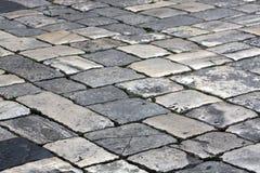 Straße pflasterte lizenzfreie stockfotografie