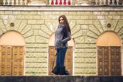 Straße photosession in der Stadt stockfotos