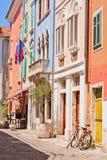 Straße in Piran Lizenzfreie Stockfotografie