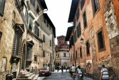 Straße in Pisa Italien Stockfotos