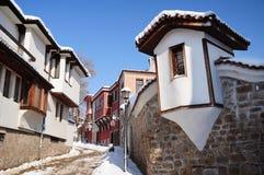 Straße Plovdiv `s der alten Stadt Stockfotografie