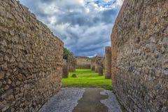 Straße in Pompeji, Italien Lizenzfreies Stockfoto