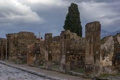 Straße in Pompeji, Italien Stockfotos