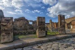 Straße in Pompeji, Italien Lizenzfreie Stockbilder