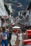 Straße in Quito lizenzfreies stockfoto