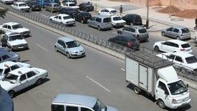 Straße in Rabat, Marokko stock footage