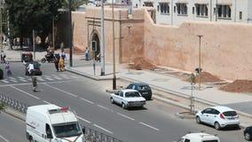 Straße in Rabat, Marokko stock video