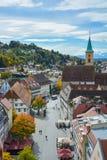 Straße in Ravensburg Stockbilder