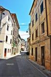 Straße in Rovinj Stockfotos