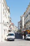Straße Rue Leon Maitre in Nantes, Frankreich Stockbild