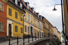 Straße in Södermalm, Stockholm Lizenzfreies Stockfoto