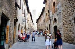 Straße San-Gimignano stockbild