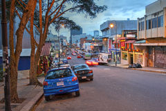Straße in San Jose, Costa Rica Lizenzfreies Stockfoto