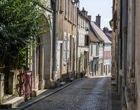 Straße in Sancerre Cher, Frankreich stockfotografie