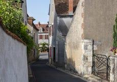 Straße Sancerre Cher in Frankreich lizenzfreies stockbild