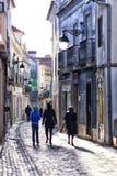Straße in Santarem, Portugal Lizenzfreie Stockfotografie
