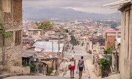 Straße in Santiago de Cuba stockfotografie