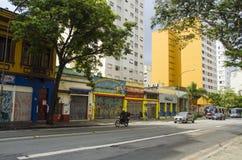 Straße in Sao Paulo lizenzfreie stockfotografie