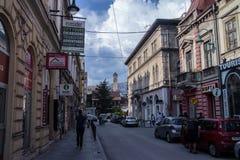 Straße in Sarajevo Stockbild