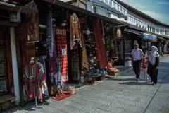 Straße in Sarajevo, BaÅ-¡ Ä  arÅ ¡ ija Stockfotografie