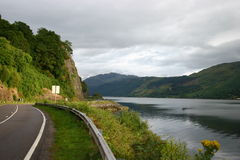 Straße in Schottland Stockbilder