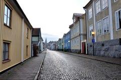 Straße in Schweden Stockfotos