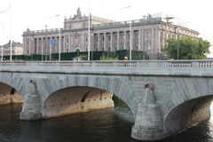Straße Schweden, Europa Stockfotos