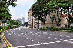 Straße in Singapur Stockfotografie