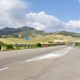 Straße in Sizilien Stockfotografie