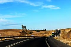 Straße in Spanien Lizenzfreies Stockbild