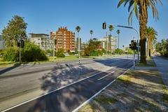 Straße in St. Kilda, Melbourne Lizenzfreies Stockbild