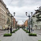 Straße in St Petersburg, Russland Lizenzfreies Stockfoto