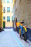 Straße in Stockholm stockbild