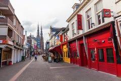 Straße Stratumseind in Eindhoven, die Niederlande Stockfotos