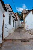 Straße in Sucre, Hauptstadt von Bolivien Stockfotografie