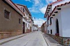 Straße in Sucre, Hauptstadt von Bolivien Stockbild