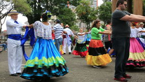 Straße tanzt in San Jose, Costa Rica stock footage