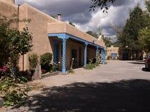 Straße in Taos-New Mexiko USA Stockfotografie