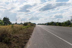 Straße in Thailand Stockfotografie