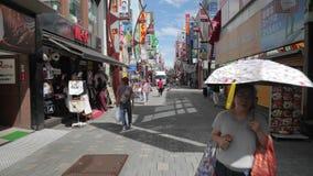 Straße in Tokyo, Japan stock video